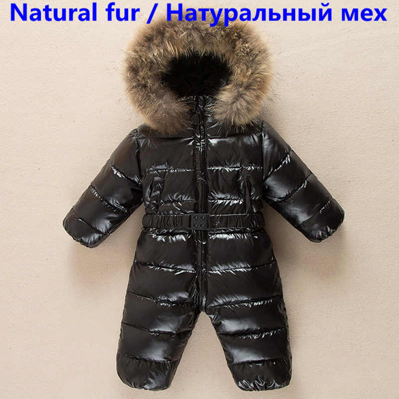 05c9d6c36 -30 degrees baby girl jumpsuits Russia winter baby clothing snow wear down  jacket snowsuits for kids coats boys girls clothes
