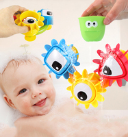 Funny Colorful Children Baby Bath Toys Waterwheel Spraying Dabbling Toy Play Water Child Beach Scoop Water
