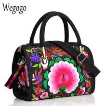 Vintage Women Bag Canvas Flower Embroidered Women Handbag Boho Embroidery Mandala Shoulder Messenger Bag For Woman Girls