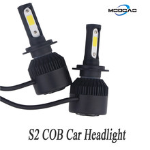 2-Pack S2 Series LED Car Headlights Black Shell Car Daytime Lamps Vehicle Driving Lights H4 H7 H8/9/11 9006 9007 9012(China)