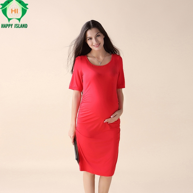 Knee Length Maternity Dresses for Pregnancy Plus Size S XXXL Office ...