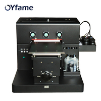 OYfame A4 UV printer LED UV Printer With Emboss Effect A4 UV printer for leather Phone case Acrylic Wooden Metal UV Printing
