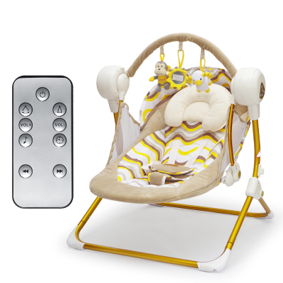 Electric baby rocking chair automatic  baby sleeping basket  Bluetooth play 2017 new limited brand cradle electric baby swing music rocking chair automatic sleeping basket golden frame 8gb bluetooth usb
