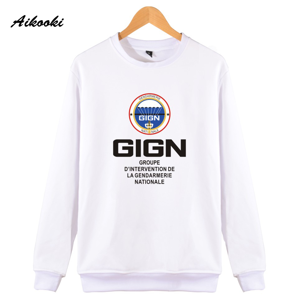 Aikooki Hot GIGN Gendarmerie Mens Sweatshirt Hoodies Women High Quatily Cotton Sweatshirt Male Couples Hip Hop Bri Police Coats