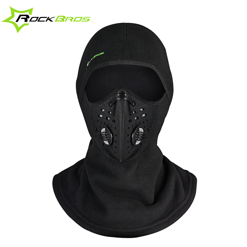 ROCKBROS Winter Balaclava Snowboard Face Mask Scarf Cycling Cap Windproof Headwear Ski Face Shield Hat Black Thermal Mask Men men s winter warm black full face cover three holes mask cap beanie hat 4vqb