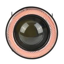 2 шт. Водонепроницаемый светодиодные фары противотуманные 3 дюйм(ов) высокое Мощность Противотуманные огни с красным УДАРА Ангел глаз кольцо выпуклая линза для автомобиль внедорожник Грузовик