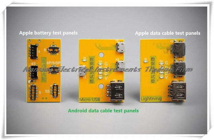 iPhone battery tester Accessories: Apple battery Apple data cable and Android data cable test panels, test sockets, test fixture