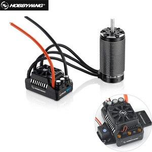 Image 1 - HobbyWing 56113SL 800KV sensorless brushless 4 מוט מנוע עם EzRun MAX5 V3 200A brushless עמיד למים ESC קומבו עבור 1/5 RC מכוניות