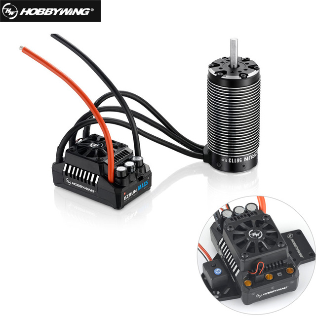 HobbyWing 56113SL 800KV sensorless brushless 4 מוט מנוע עם EzRun MAX5 V3 200A brushless עמיד למים ESC קומבו עבור 1/5 RC מכוניות
