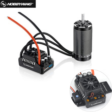 HobbyWing 56113SL 800KV sensorless brushless 4 pole motor with EzRun MAX5 V3 200A brushless waterproof ESC combo for 1/5 RC cars