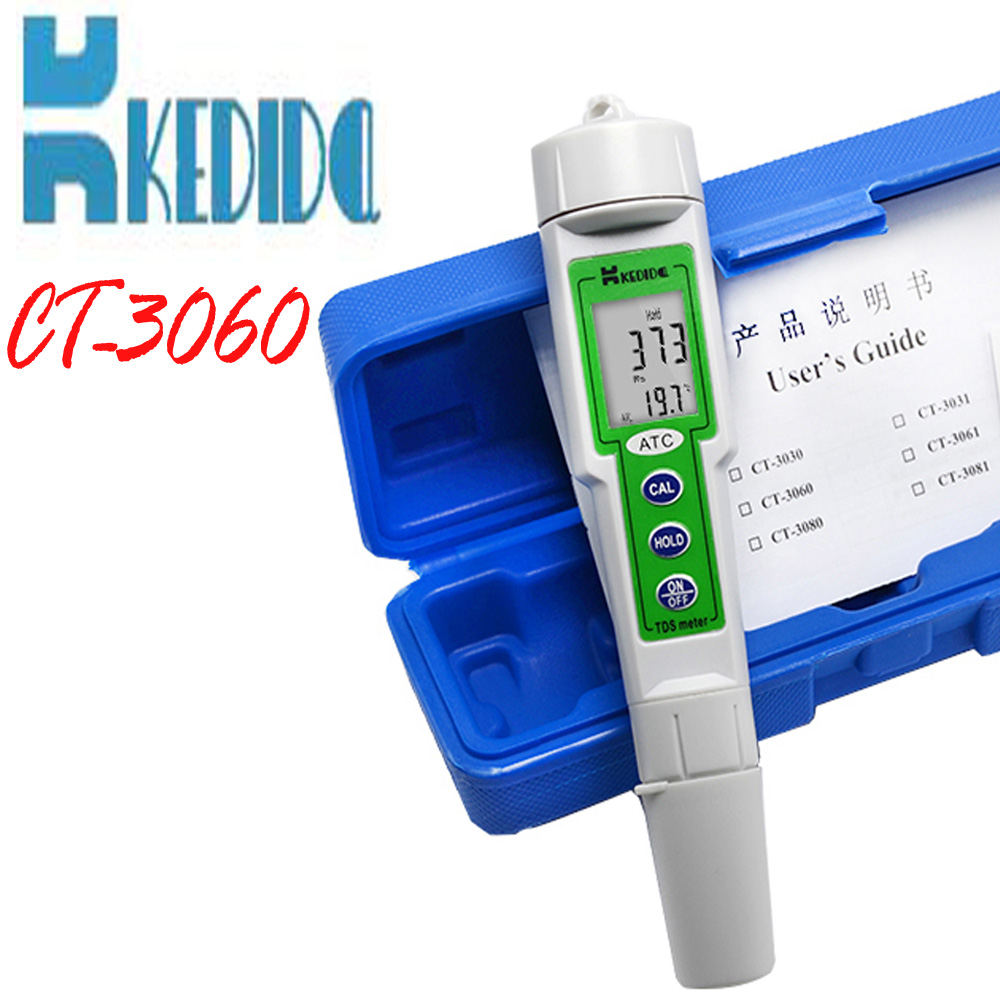 profession waterproof digital TDS Meter water quality tester Pen type digital tds meter 0-1000ppm With temperature test water quality pen type conductivity meter with ip65 rating waterproof meter thermometer