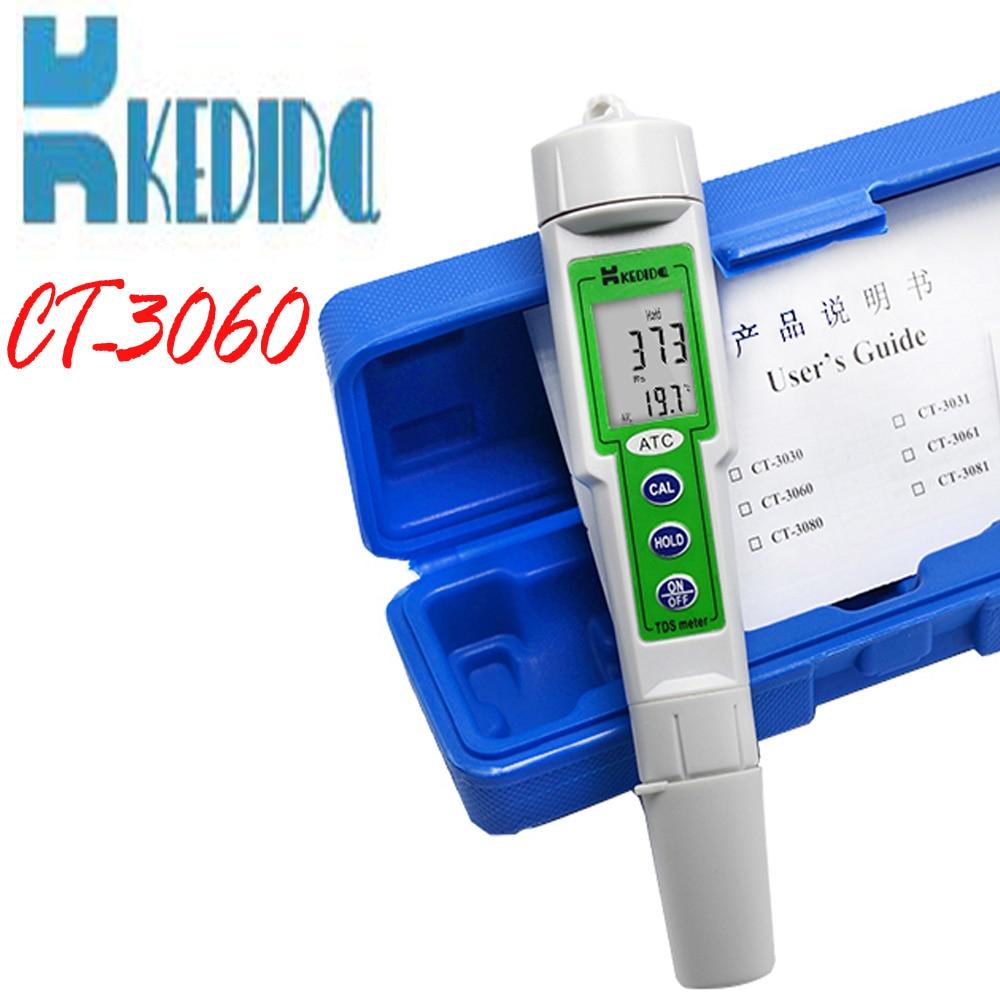 profession waterproof digital TDS Meter water quality tester Pen type digital tds meter 0-1000ppm With temperature test 4 8 days arrival mingrui tds283 waterproof pen tds meter