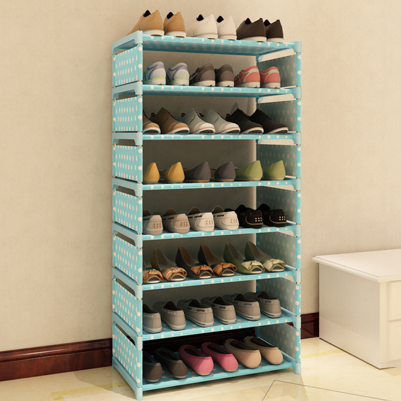 7 layers non woven fabric shoe rack shelf storage closet. Black Bedroom Furniture Sets. Home Design Ideas