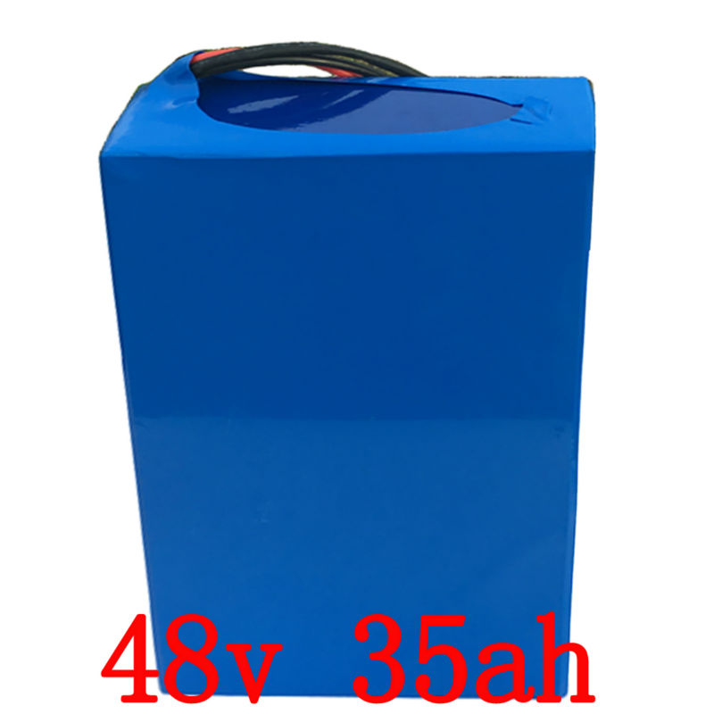 Free Shipping e-Bike Battery 48v 35ah 2000w Lithium Battery Pack for 48v Electric Bike DrivMotor with  2A Charger and 30A BMS e bike battery 48v 15ah 1000w use for samsung 3000mah cells built in 30a bms with 2a charger lithium battery 48v free shipping