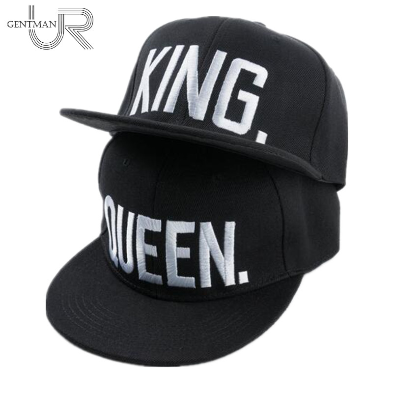 Hot Sale KING QUEEN Embroidery Snapback Hat Acrylic Men Women Couple Baseball Cap Gifts Fashion Hip-hop Caps skullies hot sale candy colored knit cap sleeve head cap hip hop tide baotou cap 1866717
