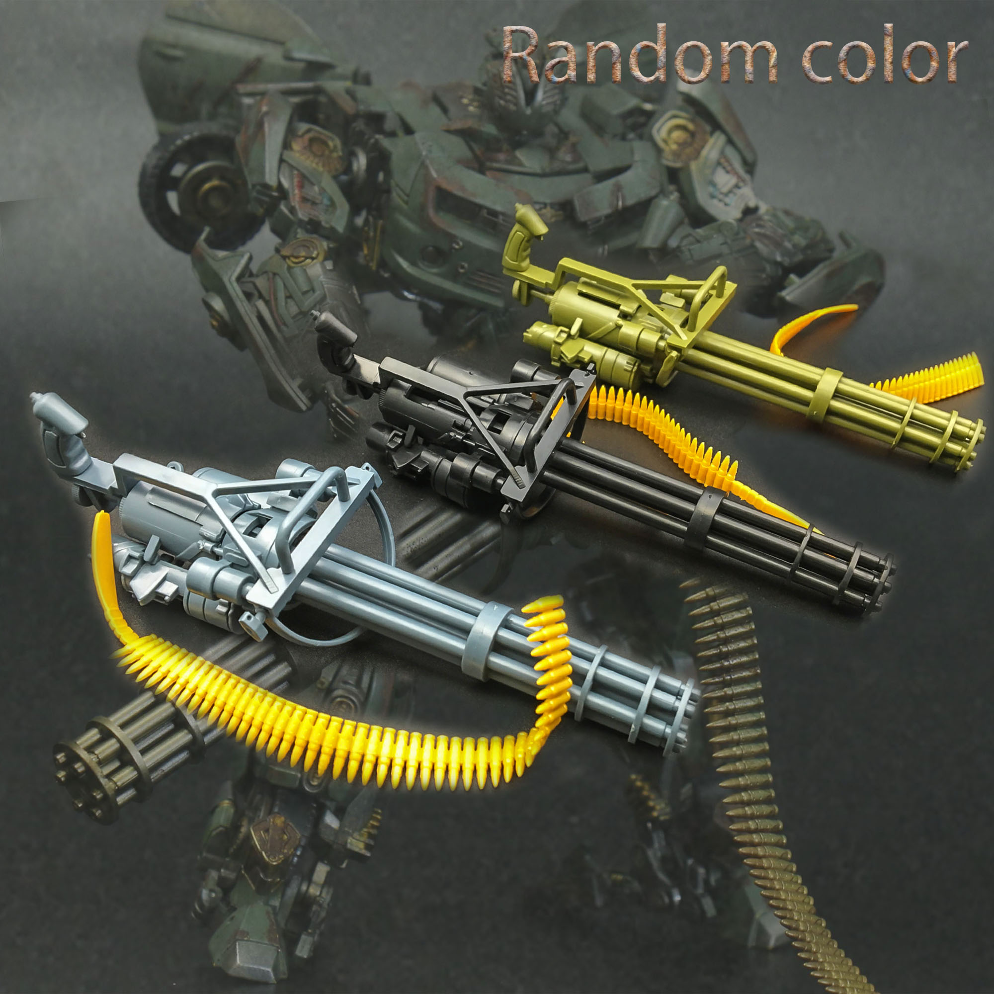 1/6 Scale Gatling M134 Toy Gun Model Puzzles Building Bricks Gun Soldier Weapon
