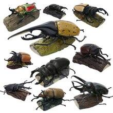 Оригинальный 11 штук насекомых, японский носорог, жук, олень, карманная модель червя, фигурка животного, дети, коллекционные игрушки
