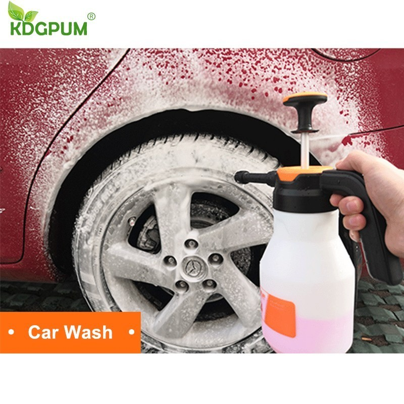 Image 3 - 2L Foam Sprayer Pressure Pump Car Wash Watering Can Foam Nozzle For Home Window Cleaning ToolsSprayers