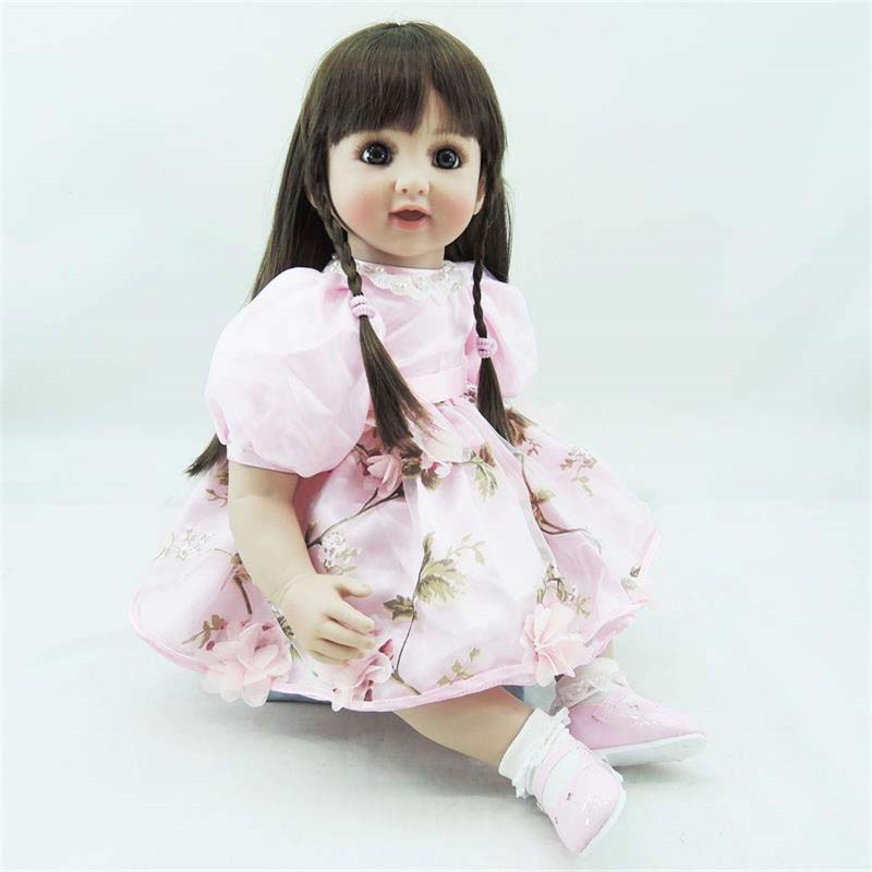 22 inch 55cm reborn Silicone dolls lifelike doll reborn babies toys Fashion cute girl