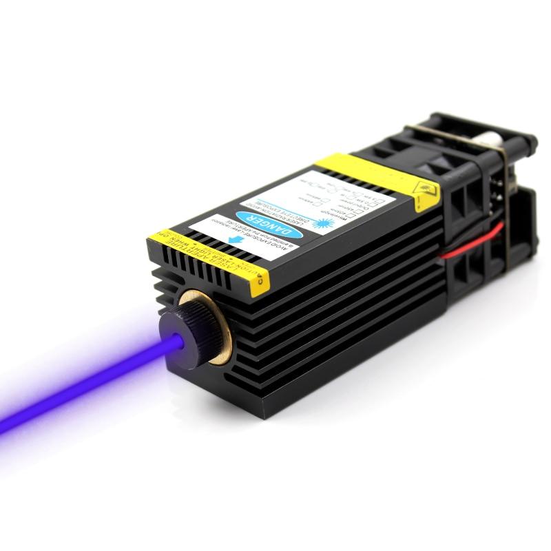 oxlasers 3000mW 3 5W 12V 450nm 3P focusable blue Laser Module DIY Laser Engraving Machine Part