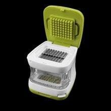 Multifunción De Plástico Prensa de Ajo Presser Crusher Herramienta de la Cocina Vegetal Rallador Slicer Dicing Rebanar y Almacenamiento