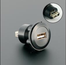 US $9.6 |22mm USB Panel mount connector (USB2.0 Female A change to Female A)|connector usb|connector panel|connector female - AliExpress