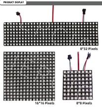 JERCIO WS2812B Pixel Led Panel Module 8x8 Pixels Screen Digital Flexible Matrix SK6812 Individually Addressable IC Chip DC5V rgb led light matrix ws2812b flexible screen panel apa102 flexible led panel matrix