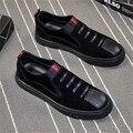 2017 de Lujo Zapatos de Cuero Genuinos De Los Hombres mocasines Zapatos Planos alta calidad de Los Hombres Mocasines de conducción Pisos Zapatos Formales Causales Para hombre