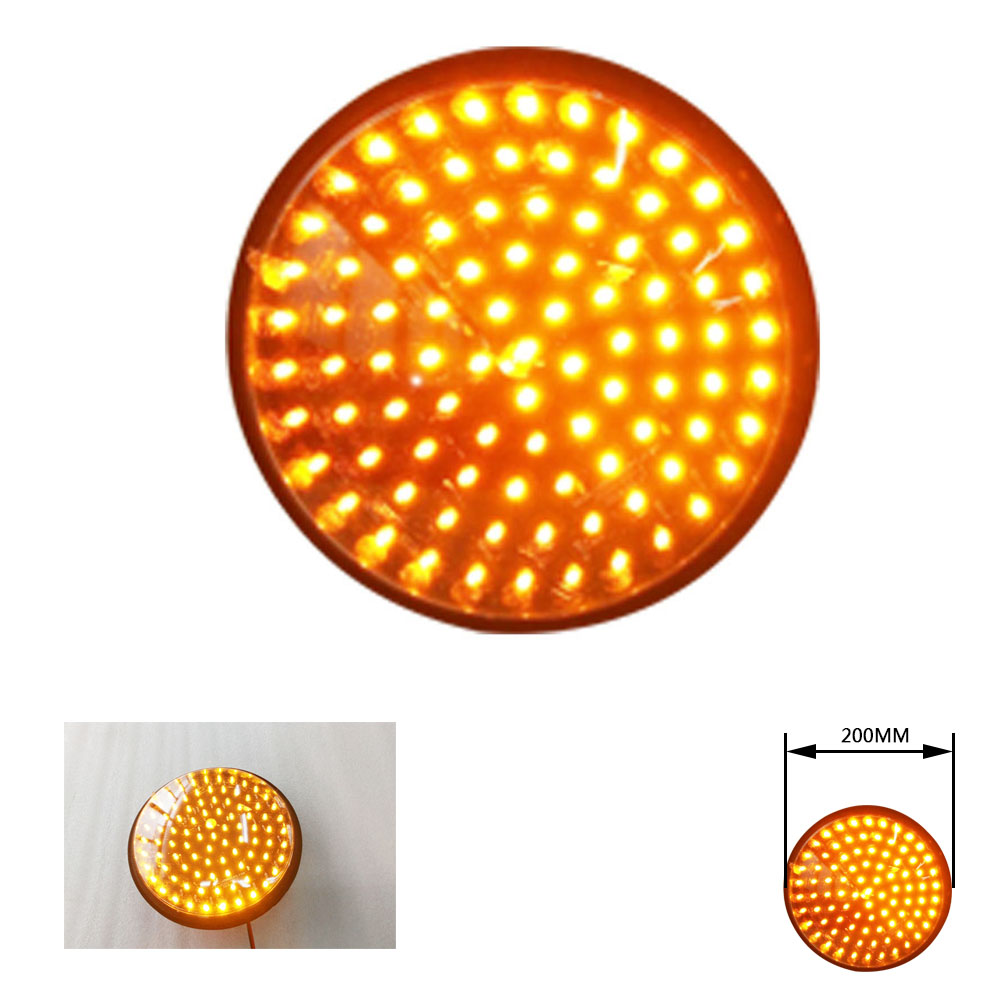 Traffic Signal Light Module 200mm Diameter 8 Inch Yellow Road Safety Light DC 12 V Cheap LED Cluster