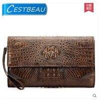 Cestbeau Large Capacity Real Crocodile Leather Men Clutch Bag Cover Bag Men Wallet Whole Crocodile Production