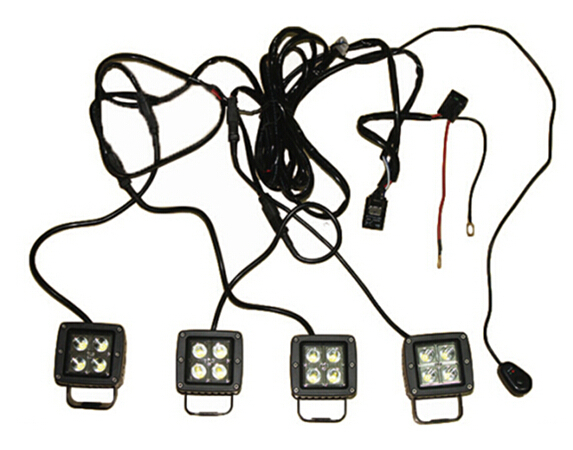 Four Legs12v Wiring Harness Switch 3 Meters Long Led Light Bar Relay