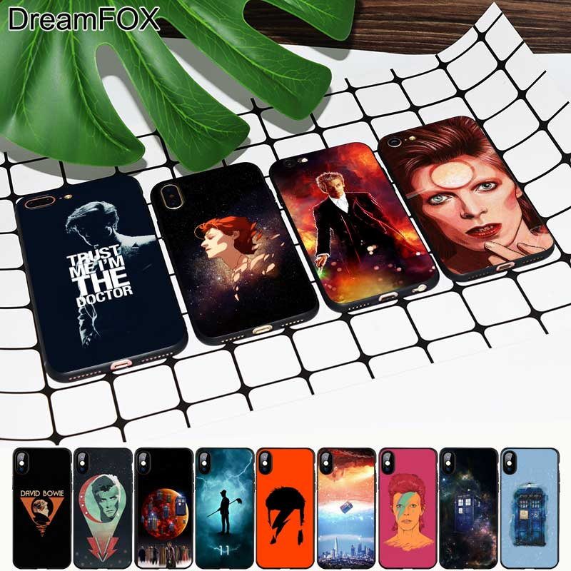 Phone Bags & Cases Dreamfox M450 David Bowie Doctor Who Black Soft Tpu Silicone Case Cover For Apple Iphone Xr Xs Max X 8 7 6 6s Plus 5 5s 5g Se Matching In Colour Fitted Cases