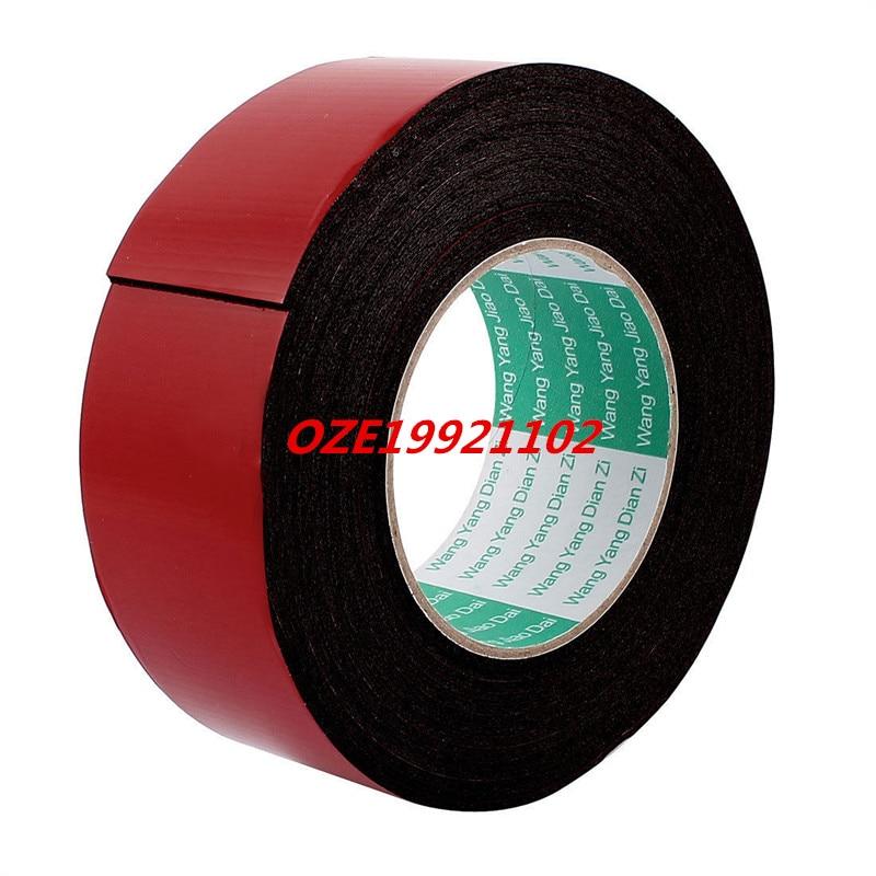 1PCS 5M 16.4ft Long 45MM Width Red Black Strong Dual Sided Adhesive Tape Sponge Tape 1pcs 18mm x 5mm single sided self adhesive shockproof sponge foam tape 3 meters