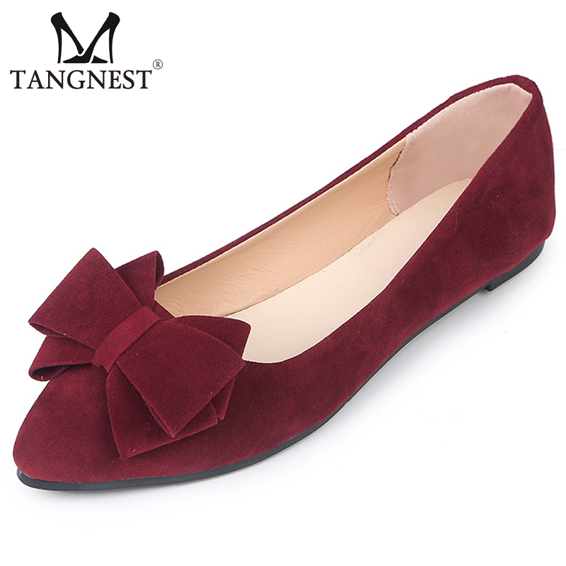 Flat Shoes Butterfly Knot Slip