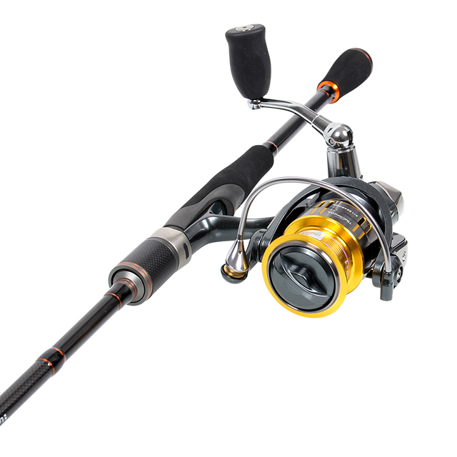 Cheap Tsurinoya Rod Combo 2.1M M Action Spinning Fishing Rod with FUJI guide ring Pioneer serial Rod with Fishing Reel