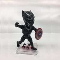 HKXZM Movie Figure 18CM Avengers Super hero Black Panther Captain America Shield PVC Action Figure Toys Model Collectible Gift