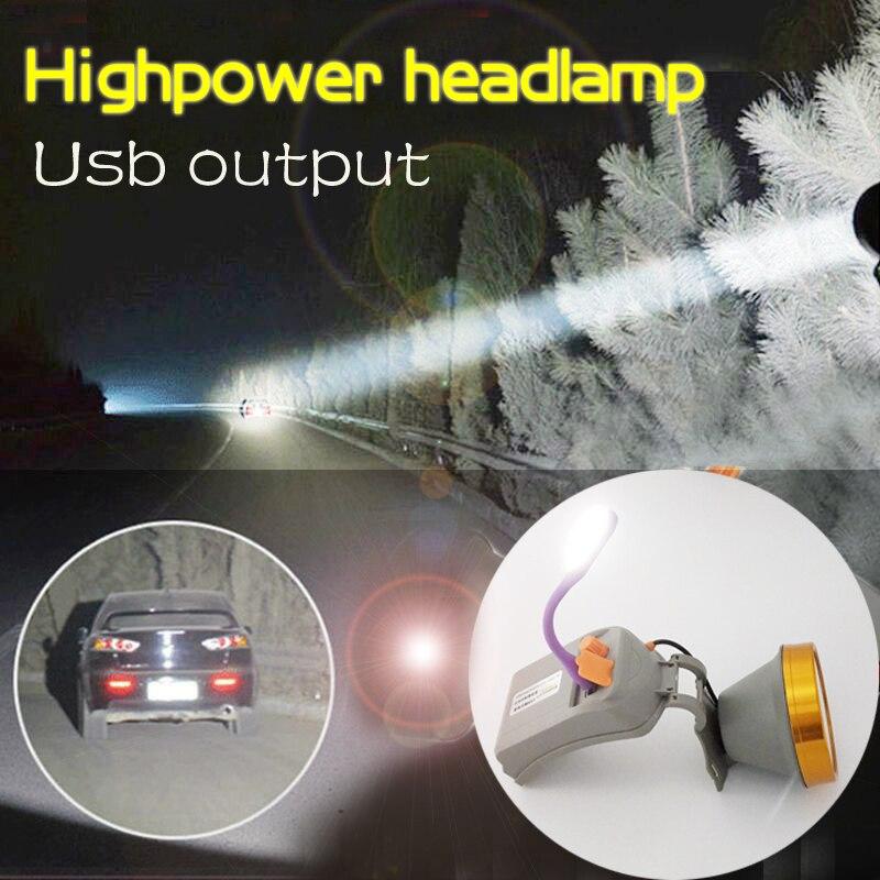 2017 neue usb wiederaufladbare taschenlampe leistungsstarke led scheinwerfer helle laterne scheinwerfer für jagd camping