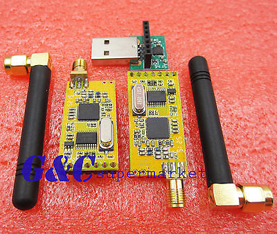APC220 Wireless RF serial Data Modules With Antennas USB Converter