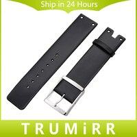 22 мм Настоящая кожа ремешок для K94231 замена часы ремешок Нержавеющая сталь застежка на запястье ремень браслет черный, белый цвет
