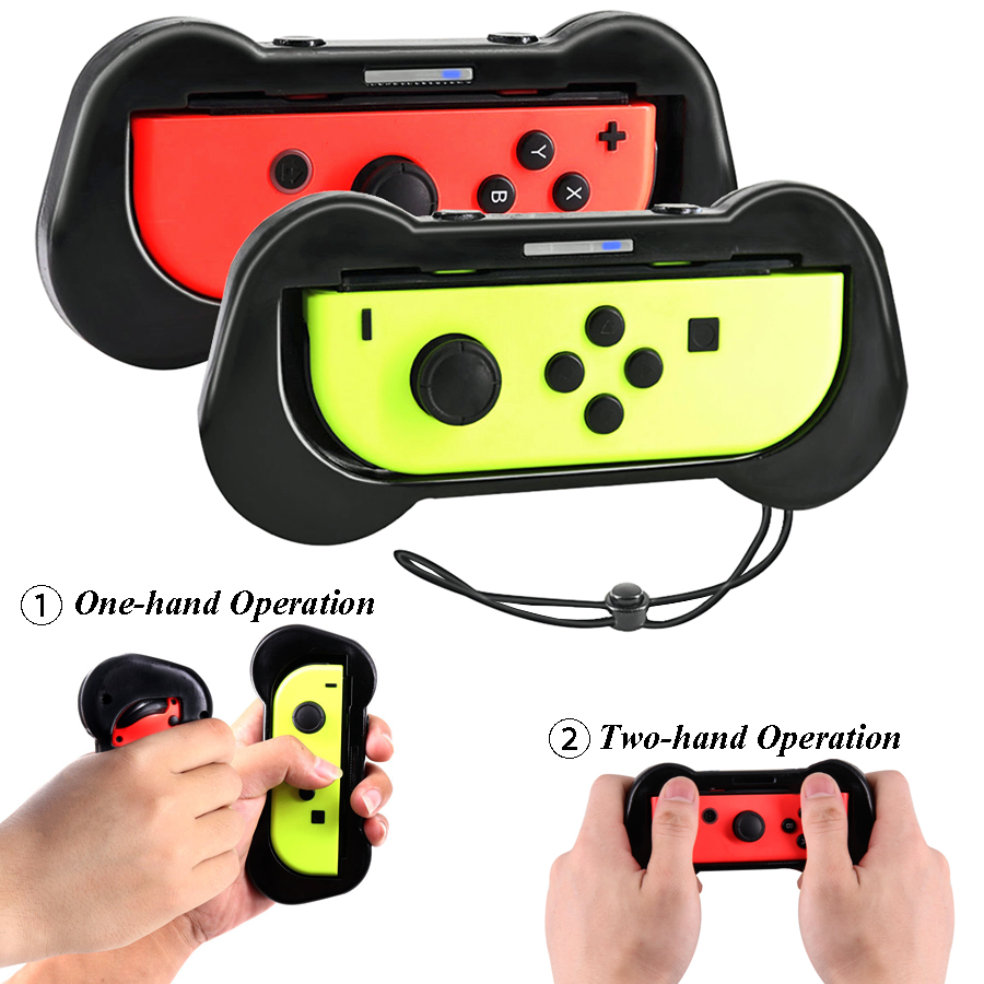 2 pcs Nintend Switch Accessories Joystick Gamepad Grips Holder Nintendos NS Steering  Wheel Handle for Nintendo Switch