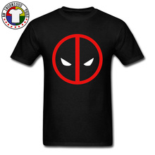 Red Superman Dead Pool Face Mask T Shirts Marvel Deapool Men April FOOL DAY Pure Cotton 2019 New Fashion Leisure Top T-shirts roncagliolos red april