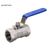 4 Ball Valve Stainless Steel SS304 , 1PC Thread Ball Valves Heavy type