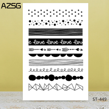 AZSG Love Typeface Arrow Clear Stamps/Seals For DIY Scrapbooking/Card Making/Album Decorative Silicone Stamp Crafts