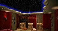 DIY optic fiber light kit led light +optical fibres RGB color change wireless control colorful star ceiling light 16W free play