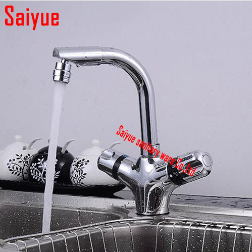 Euro Smart thermostatic mixer Single hole dual holder Kitchen & bathroom basin sink Faucet water Tap Chrome deck mounted china sanitary ware chrome wall mount thermostatic water tap water saver thermostatic shower faucet