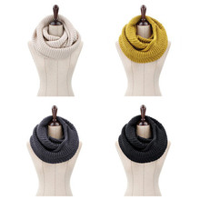 Hot Sale 2016 New  fashion style Unisex Winter knitted Scarves Wool Collar Neck Warmer woman Crochet Ring Spain Loop Scarf wb 01 fashion knitting wool collar scarf neck warmer pink