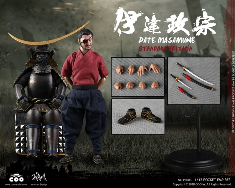 For PE006/PE007 1/12 Collectible Full Set Pocket Age of Empires Series DATE MASAMUNE STANDARD/Deluxe Edition Fan Gifts image