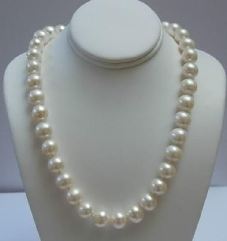 FREE shipping>>> >>>Natural AAA+ ELEGANT 11-12 MM WHITE AKOYA PEARL NECKLACE 17
