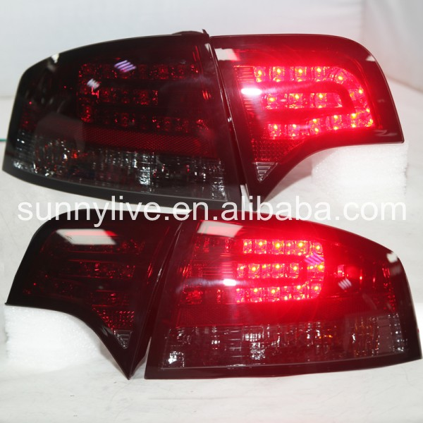 For Audi A4 b7 LED Tail Light Rear lamp 2005 2008 year Dark Red SN