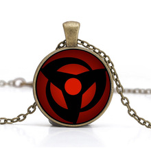 Naruto Sharingan Shippuuden Eyes Pendant Black Chain Vintage Necklace